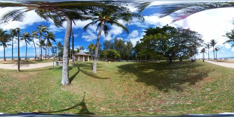 360 vr image of Waikiki Beach Hawaii,USA