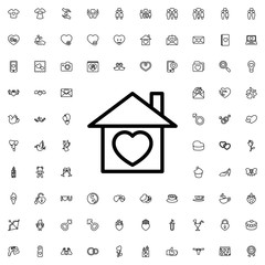 home with heart icon illustration