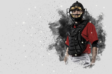 Wall Mural - Catcher Baseball Player