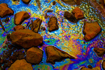 Oil spill - pollution -
