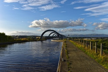 Schottland - Falkirk Wheel Wasserweg zum Union Canal