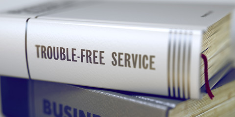 Trouble-free Service. Book Title on the Spine. 3D.