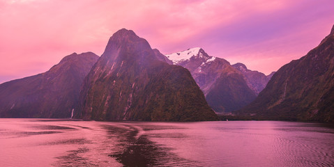 Early Morning Scenery in Milford Sound - New Zealand