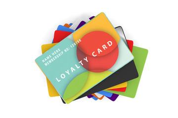 range of coloured loyalty card designs
