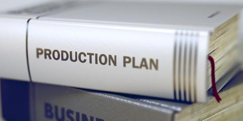 Production Plan - Business Book Title. 3D.