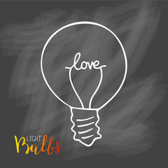Light bulbs icon set. concept
