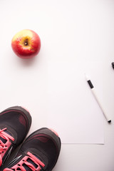 concept of fitness and dieting plan