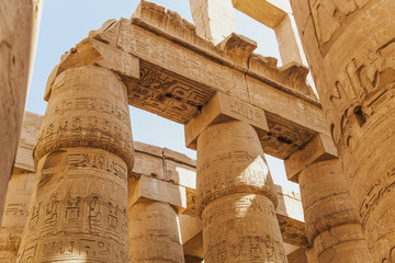 Ancient Karnak Temple in Luxor, Egypt. Photo shot in 2017