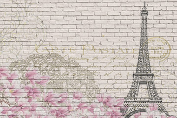 Paris brick wall