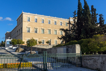 The Greek parliament in Athens, Attica, Greece