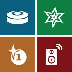 Set of 4 boom filled icons