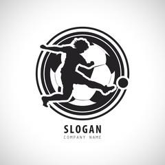 Football Soccer player Logo. Football Vector illustration.
