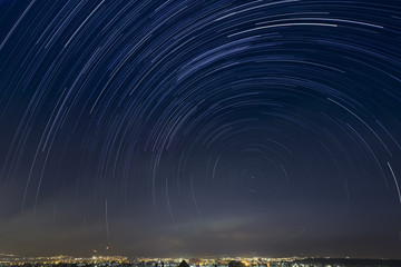 Startrail over Pachuca