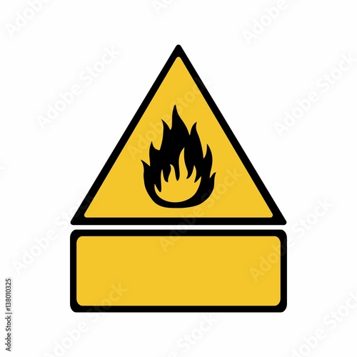 Flammable Material Sign Vector Design Iso 7010 W021 Warning Symbol
