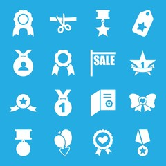 Set of 16 ribbon filled icons