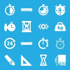 Set of 16 measure filled icons