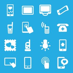 Set of 16 smartphone filled icons