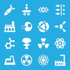 Set of 16 nuclear filled icons