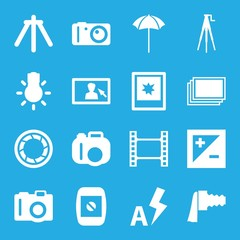Set of 16 photography filled icons