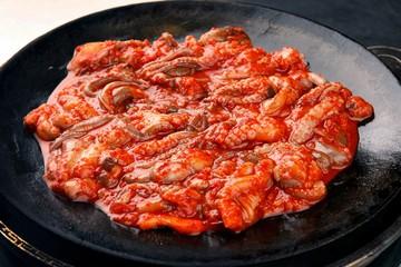 jukkumi bokkeum.  Stir-fried Small Octopus