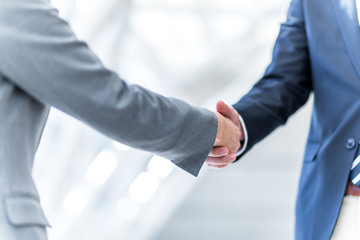 shake hands, business greeting concept Wall mural