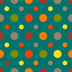 Polka dots seamless pattern. Vector illustration