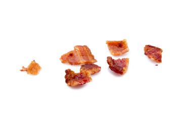 Bacon bits on white