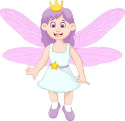 cute little fairy girl cartoon