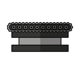 transporter band machine icon vector illustration design