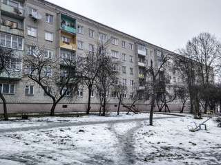 apartment buildings in the spring of depression