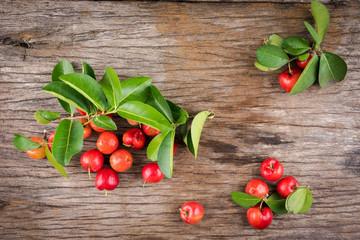 Acerola cherry (Malpighia emarginata)