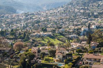 Countryside landscape around Saint Paul de Vence village, France