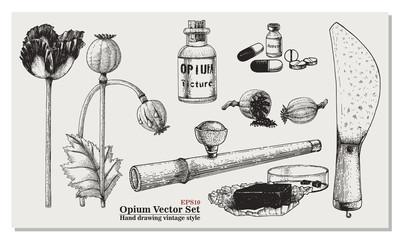 Opium Vector Set