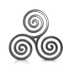 Silver Triskele symbol