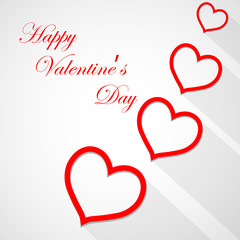 Happy Valentine's Day lettering Greeting Card on white background