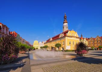 Bunzlau in Schlesien - Boleslawiec, Old Market Bunzlau in Silesia
