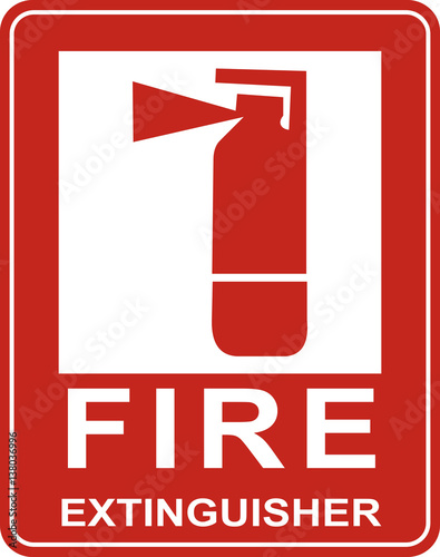 quotfire extinguisher sign vectorquot stock image and royalty