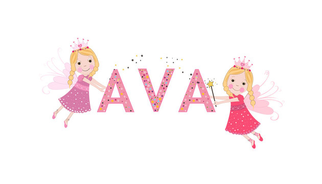 Ava female name with cute fairy tale