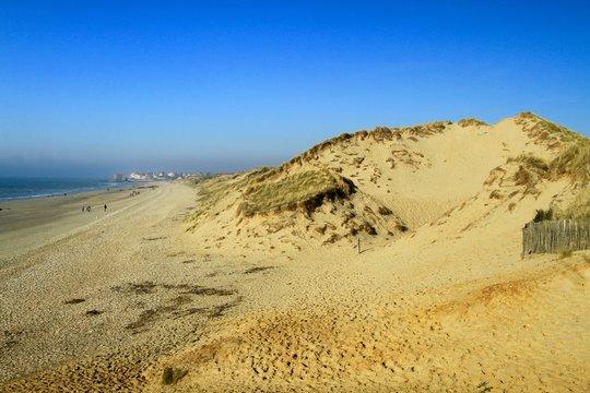 BEACH OF AMBLETEUSE , DUNES OF SLACK , FORT MAHON , PAS DE CALAIS , HAUTS DE FRANCE, FRANCE