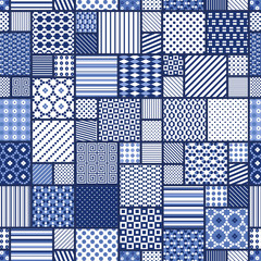 abstract seamless patchwork pattern