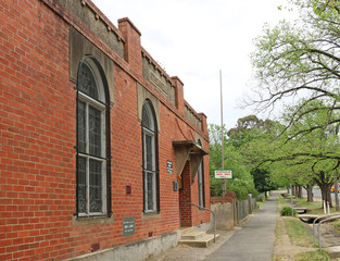 MALDON, VICTORIA, AUSTRALIA :The Maldon Athenaeum Library was founded in 1869 as part of the Mechanics' Institute. The current building dates from 1933 (the previous one burnt down in 1932)