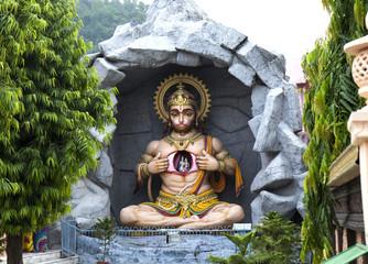 Statue of Hindu Lord Hanuman in Rishikesh. India