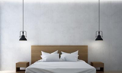 the interior design of minimal bedroom