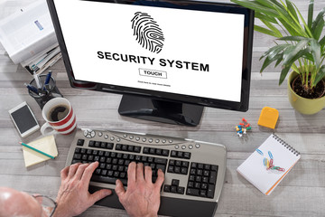 Security system concept on a computer