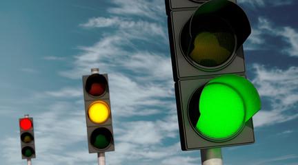 Ampeln: Grün, Gelb, Rot