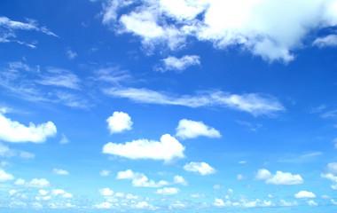 A lot of cloud in the super blue sky.