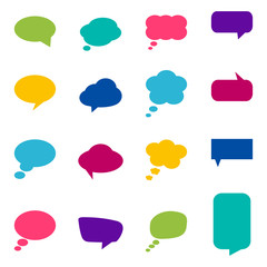 Set of colorful speech bubbles, vector illustration