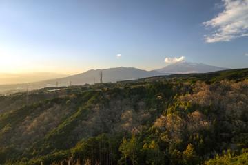 Mount fuji-san at  Mishima city in japan