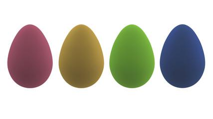 3d-Illustration, pastellfarbende Ostereier