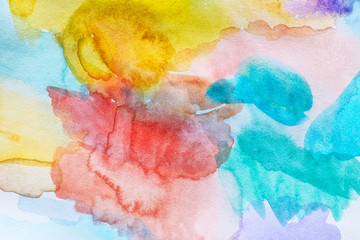 Abstract colourful watercolor background
